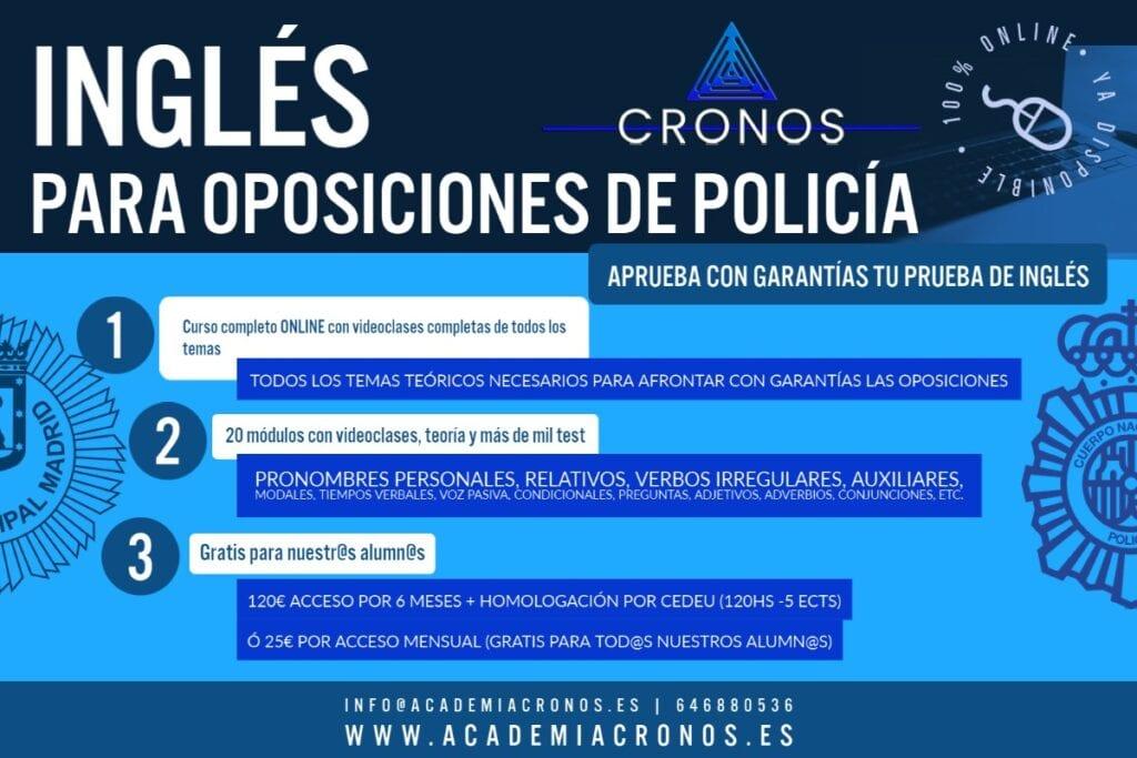 curso inglés para oposiciones cronos (Personalizado)
