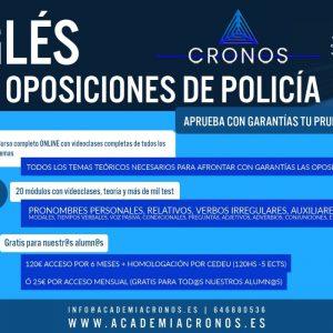 """Curso de """"Inglés para oposiciones a FCS"""" (Con libro, homologación y 6 MESES de acceso ilimitado)"""