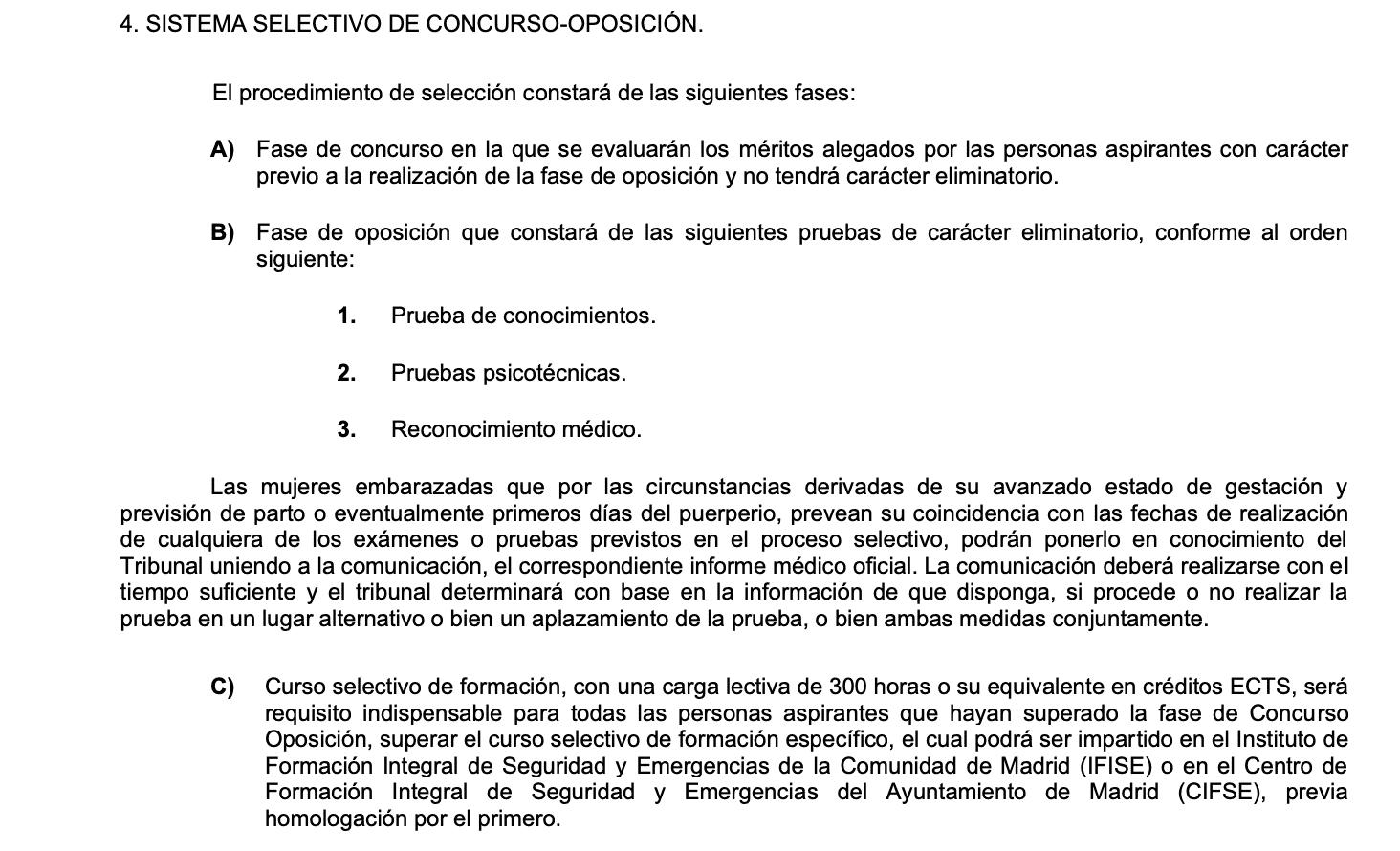 PROCESO SELECTIVO OFICIALES