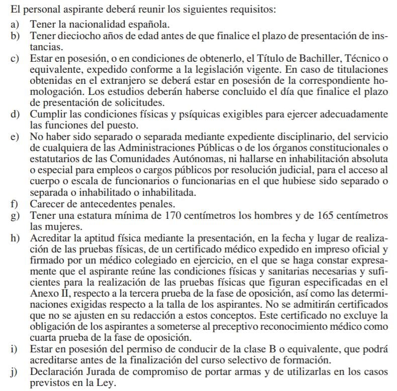 Requisitos PL leganés – Academia Cronos