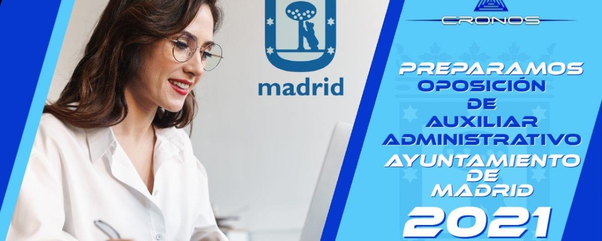 Auxiliar Administrativo del Ayuntamiento de Madrid (259 plazas)